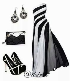 Love the dress & purse. Cute Dresses, Cute Outfits, Long Dresses, Gowns Of Elegance, Fashion Plates, Beautiful Gowns, Passion For Fashion, Spring Fashion, Fashion Dresses