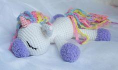 Sleeping unicorn, pony, freecrochet pattern, amigurumi, stuffed toy, #haken, gratis patroon (Engels), eenhoorn, paard, pony liggend, knuffel, speelgoed, #haakpatroon
