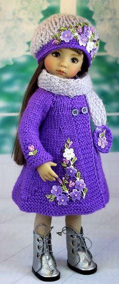 Irresistible Crochet a Doll Ideas. Radiant Crochet a Doll Ideas. Knitting Dolls Clothes, Crochet Doll Clothes, Knitted Dolls, Girl Doll Clothes, Doll Clothes Patterns, Crochet Dolls, Barbie Clothes, Doll Patterns, Girl Dolls
