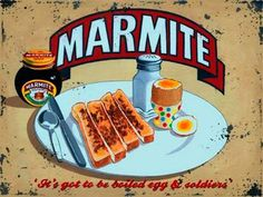 METAL VINTAGE RETRO SHABBY-CHIC MARMITE TIN SIGN WALL PLAQUE / FRIDGE MAGNET