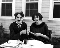 Charlie Chaplin pictured with one of his many wives, Lita Grey. In his new book, biographe...