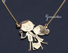 Personalized handmade jewelry by Alpdesignn Name Necklace, Gold Necklace, Personalized Necklace, Etsy Seller, Handmade Jewelry, Creative, Unique, Gold Pendant Necklace, Handmade Jewellery