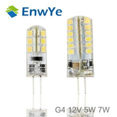G4 LED 12V 5W 7W AC/DC Led Lamp LED Bulb 2835SMD 24LED 48LED lamp 360 Beam Angle LED spot light warranty Crystal lamp light
