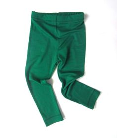 Little Lorikeets! Green merino leggings for children by Lucy's Place