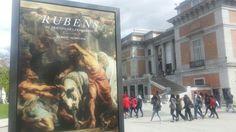 """Cartel de la Expo """"El Triunfo de la Eucaristía de Rubens"""" en el Museo del Prado de Madrid."""