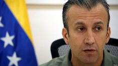 VENEZUELA:   Venezuela Extends Trade Ban With 3 Caribbean Islands  - January 9, 2018.  FILE - Venezuela's Vice President Tareck El Aissami talks to the media during a news conference in Caracas, Venezuela, Nov. 17, 2017.