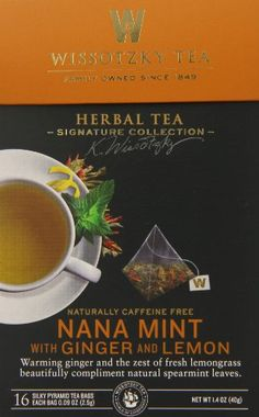 Wissotzky the Signature Collection Tea, Nana Mint with Ginger And Lemon, 16 Count (Pack of 6) ** For more information, visit image link.