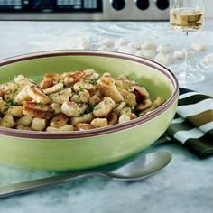 For supertender gnocchi, Steve Corry is careful not to overwork the dough. After draining the gnocchi, he sautés them until they're slightly crispy, ...