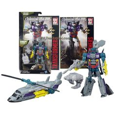 """Transformers Generations Combiner Wars Deluxe Class 5-1/2"""" Tall Figure - Decepticon VORTEX with Blaster, Bruticus' Left Arm & Comic Book (Vehicle Mode: Helicopter)"""