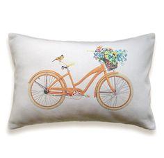 Fahrrad Kissen decken 12 x 18 Zoll White Cotton von DelindaBoutique, $23.00
