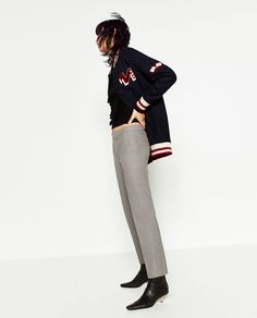 1bd26df5 Image 2 of FLANNEL CHINOS from Zara Zara Women, Winter Clothes, Winter  Outfits,