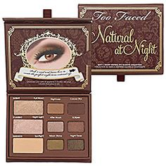 too faced natural at night sexy & sultry neutral eye shadow collection