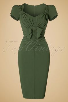 Stop Staring Verde Bow Pencil Dress 19484 20160701 001