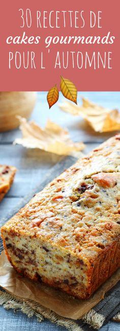 Aux poires, aux pommes, aux noisettes : 30 recettes de cakes sucrées pour l'automne ! Savory Pancakes, Savoury Cake, Pizza Cake, American Cake, Seasonal Food, No Bake Desserts, No Cook Meals, Street Food, Sweet Recipes