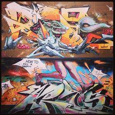 graffiti walls Germany by artist;  how2killgraffiti