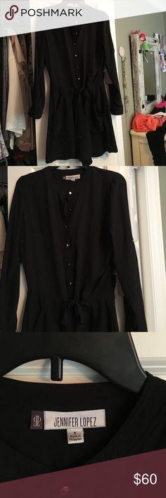 Jennifer Lopez black long sleeved romper brand new Jennifer Lopez black long sleeved romper Jennifer Lopez Shorts