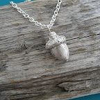 Twigs and Heather - acorn necklace