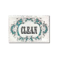 Clean Dirty Dishwasher magnet Victorian Decorative by Txalteredart Dishwasher Magnet, Clean Dishwasher, Super Strong Magnets, Hostess Gifts, Getting Organized, Design Elements, Shabby, Victorian, Cottage