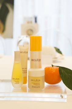 Exclusive shotof DECLÉOR's NEW youth-boosting range Aroma Lisse, launching in April 2014.