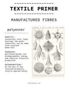 Textile Primer: Manufactured Non-biodegradable Fibres — The Note Passer