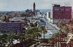https://flic.kr/p/6EmQ5N | Wilshire Blvd. Los Angeles CA | Back of postcard reads: THE BRYSON APARTMENT HOTEL 2701 Wilshire Blvd., L.A. 57, Calif. THE BRYSON overlooks this famous view of Wilshire Blvd.  Located in the heart of Los Angeles, the Bryson, surrounded by parks and private garden, is but a few minutes away from Hollywood, Beverly Hills, and the downtown area.  Color photo by James McDonnell