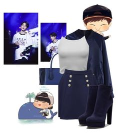 """""""Lonely Whale - Park Jimin   <(•-•)>"""" by butterfly-flutter ❤ liked on Polyvore featuring Chicwish, Longchamp, Tommy Hilfiger, Casadei, calm and bloodsweattears"""
