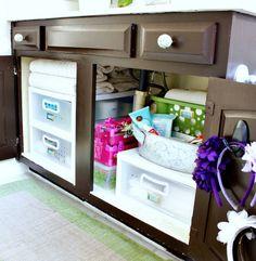 Hi Sugarplum | Organized Bathroom Cabinet by hi sugarplum!, via Flickr
