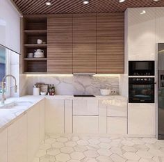 Don't like floor and cabinet same color!