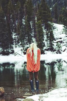 hunter boots // comfy flannel // utah nature // winter