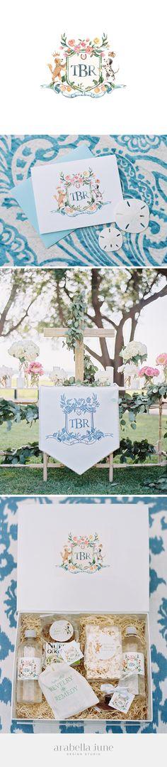 hand painted wedding crest for Taylor & Rhett #customcrest #handpainted…