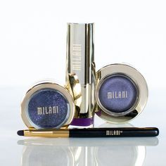 Milani has the makeup for any monochromatic look.   Shown: Color Statement Moisture Matte Lipstick in Matte Glam, Fierce Foil Eyeliner in Purple Foil and Bella Eyes Gel Powder Eyeshadow in Bella Purple