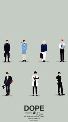 BTS Dope wallpaper for phone