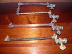 Lot of 4, Antique, Victorian, brass, gas light fixture/sconce/chandelier arms