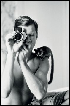 Peter Beard (1938) - American photographer, artist, diarist and writer. Self-portrait 1968.