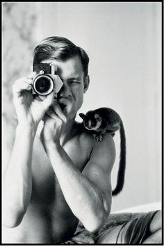 Peter Beard (1938) - American photographer, artist, diarist and writer. Self-portrait 1968.