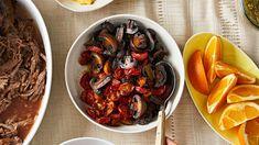 roasted tomatoes and mushrooms