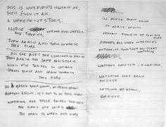 "Ian Curtis - Original Lyrics to ""Ceremony"" by Joy Division"