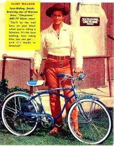 1957 ad Clint Walker for Schwinn