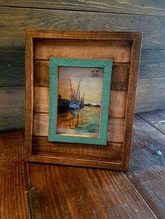 Framed Bayou Sunset Coastal ART PRINT By Scott D Van Osdol 4x6