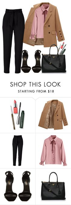 """""""."""" by ed-la ❤ liked on Polyvore featuring Clinique, Yves Saint Laurent and Prada"""