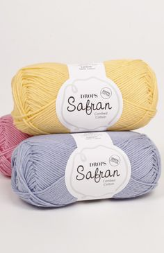 DROPS Safran, available in 30+ different colors | 100% cotton, matte finish, 4ply, 175m | DROPS Design Garn Studio