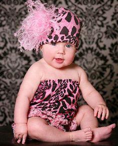 Pink Leopard Print Pipette Set-Jamie Rae Hats, Pink Leopard Print Set, baby tutu top