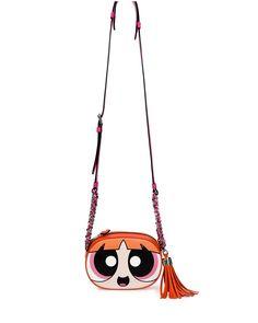 Powerpuff Girl Leather Shoulder Bag, Pink/Multi, Pink Multi - Moschino