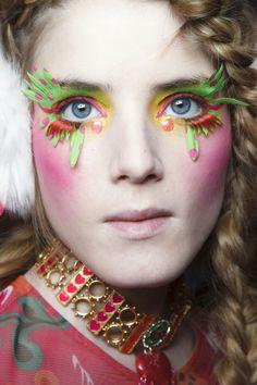 Manish Arora at Paris Fall 2014. http://votetrends.com/polls/369/share #makeup #beauty #runway #backstage