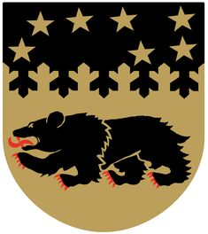 Pudasjärvi Finland Coat of Arms City Logo, Bear Coat, Ursa Major, Shield Design, Winter's Tale, European History, Flag Design, Crests, Coat Of Arms
