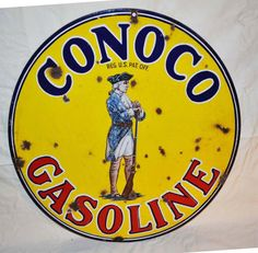 Lo Conoco Gasoline porcelain Sign.