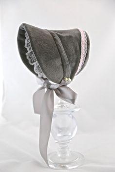 Christmas Baby Bonnet, christening bonnet, Baby Bonnet, Baby Hat- Camille Bonnet