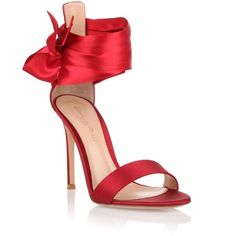 Gianvito Rossi Gala Red Silk Sandal (39.225 RUB) via Polyvore featuring shoes, sandals, red stiletto shoes, red sandals, gianvito rossi shoes, high heel shoes и high heeled footwear