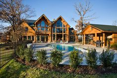 Take a swim at this great home from Expedition Log Homes, LLC http://loghomes.org/