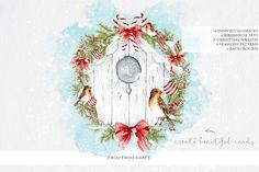 Christmas Birdhouse by Frou Fou Craft on @creativemarket